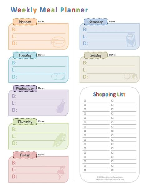 pinterest printable meal planner weekly meal planner organization pinterest