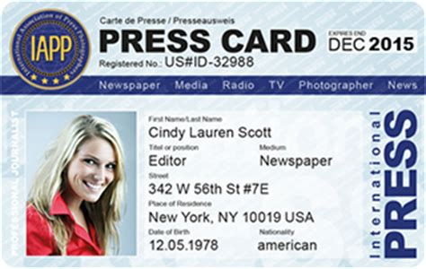 international press card template fotografen ausweis iapp presseausweis