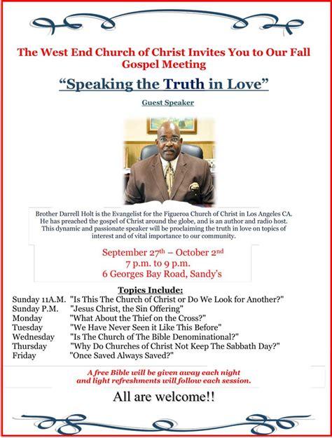 gospel meeting flyer template church of set to host gospel meeting bernews bernews