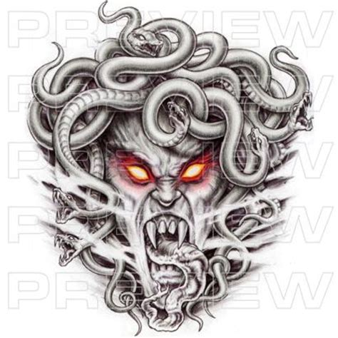 winged medusa tattoo design photos pictures and