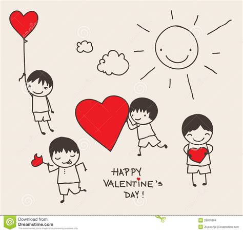 doodle valentines day s day doodle stock images image 28850284