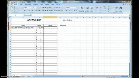 How To Make A Wish List Spreadsheet Youtube How To Make A Template In Excel