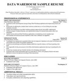 resume objective exles for warehouse supervisor