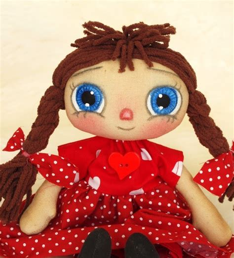 Handmade Raggedy Dolls For Sale - handmade teddy bears and raggedies blue eyed raggedy