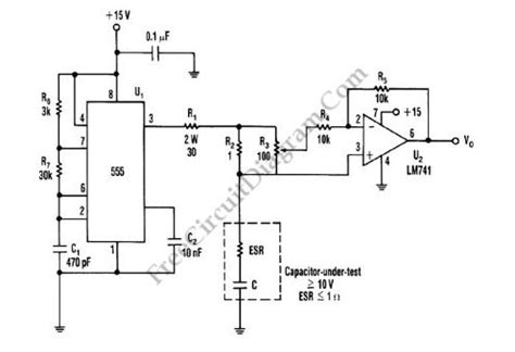 esr capacitor meter schematic capacitor esr meter circuit electrical equipment circuit circuit diagram seekic