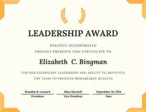 Leadership Certificate Template by Certificate Templates Canva
