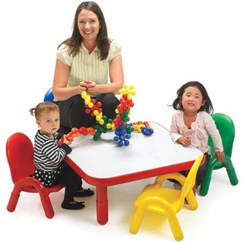 angeles baseline toddler square table   chair set