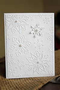 handmade cards tutorial with white on white