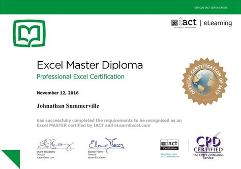 Diploma Resume Exle by Excel Master Become A Certified Master Of Excel