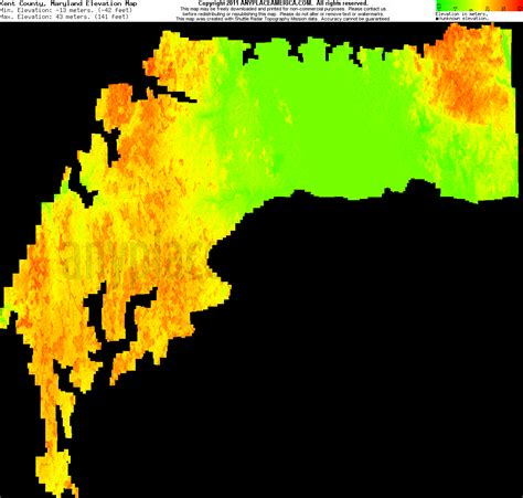 maryland map elevation free kent county maryland topo maps elevations