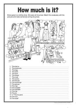 91 FREE ESL fashion worksheets