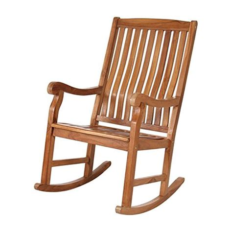 Unfinished Rocking Chair by All Things Cedar All Things Cedar Teak Rocking Chair