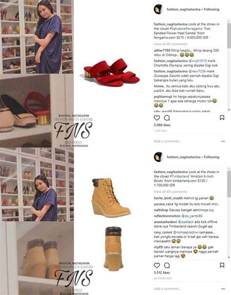 Harga Sepatu Nagita koleksi sepatu nagita kembali dibongkar ternyata ada yang