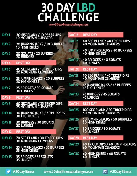 30 day black dress challenge 30 day workouts
