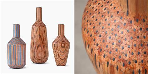 colored pencil vase artist turns pencils into beautiful vases bored panda