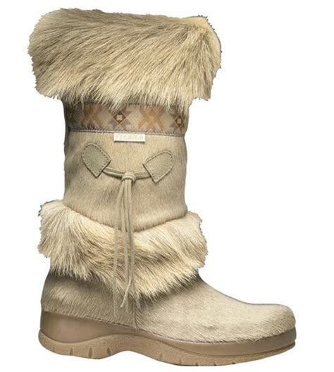 womans fur boots tecnica skandia s beige fur boots alpine accessories