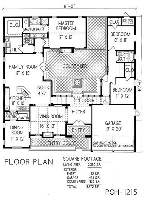 mission floor plans home plans mission style