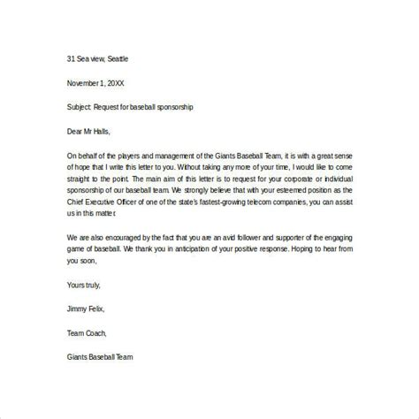 thank you letter to baseball parents sle sponsor thank you letter 26 documents