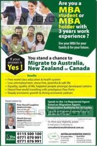 Mba In Healthcare Management In New Zealand by Australia New Zealand Canada Skill Migration For Mba
