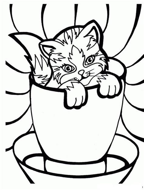birthday cat coloring page cat lovers coloring pages birthday printable