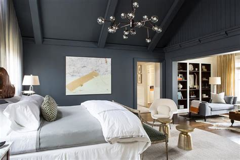 dark gray bedrooms dark gray and gold bedroom with vaulted ceiling
