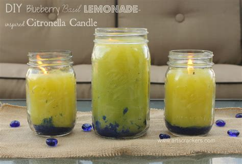 handmade scented candles citronella and lemonade diy blueberry basil lemonade citronella mason jar candles