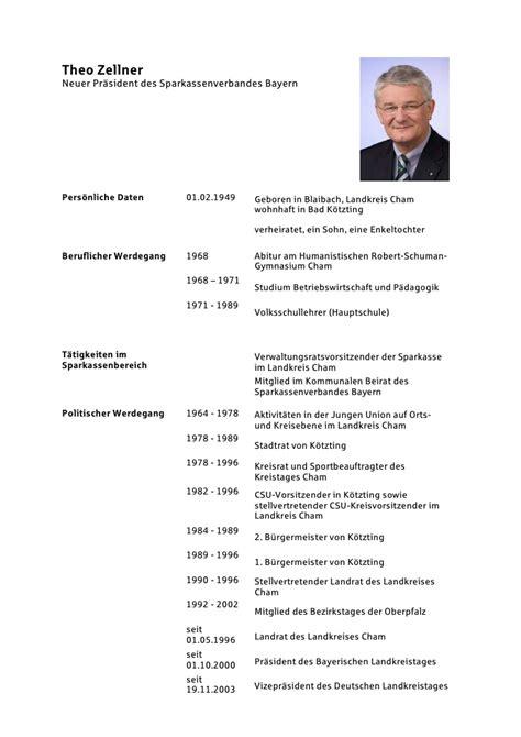 Lebenslauf Vor Abitur Lebenslauf Theo Zellner Pdf