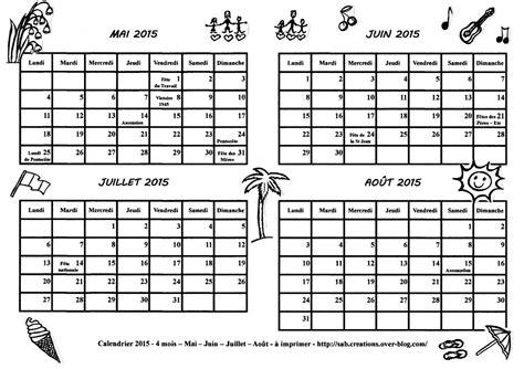 Calendrier à Imprimer Juillet 2015 Calendrier 2015 4 Mois Mai Juin Juillet Ao 251 T 224