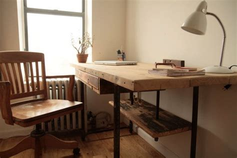 reclaimed wood standing desk adjustable stand up sit down desk made of reclaimed wood