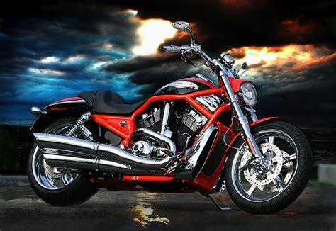 Motorrad Bilder Gemalt by Fotografie Herzblut Harley Davidson