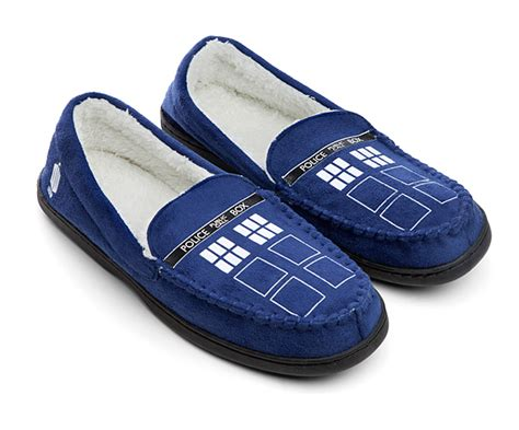 doctor who slippers doctor who tardis moccasin slippers