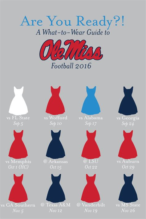 colors schedule ole miss 2016 football schedule what to wear colors ole