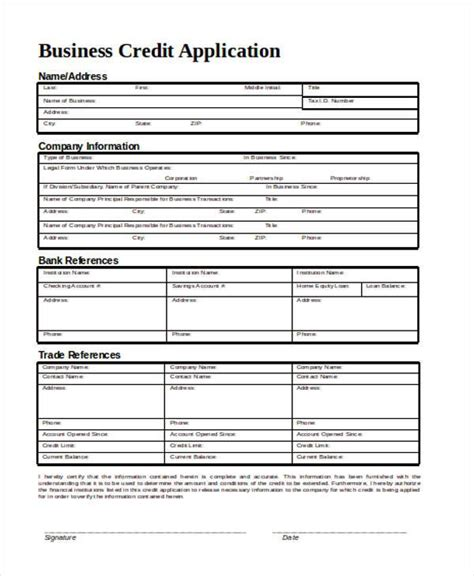 Nab Credit Application Template nab business credit card application form images card