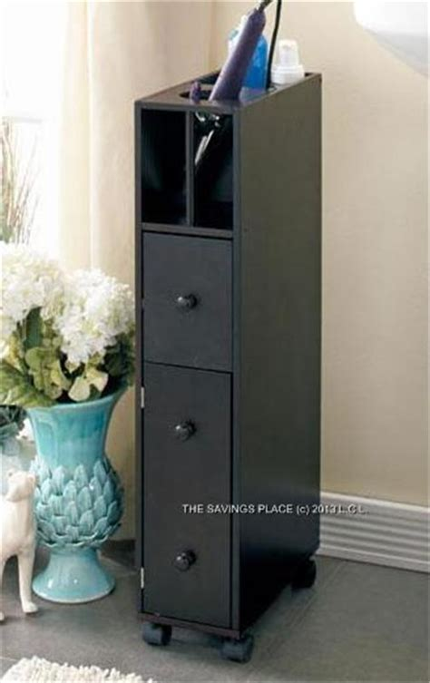 slim bathroom cabinet on slim space saving rolling