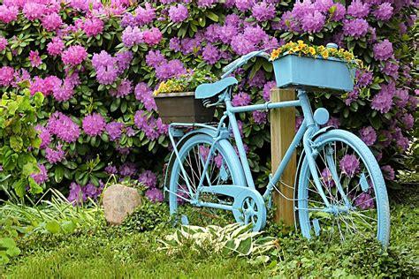 deco gardens free photo bike blue deco garden free image on