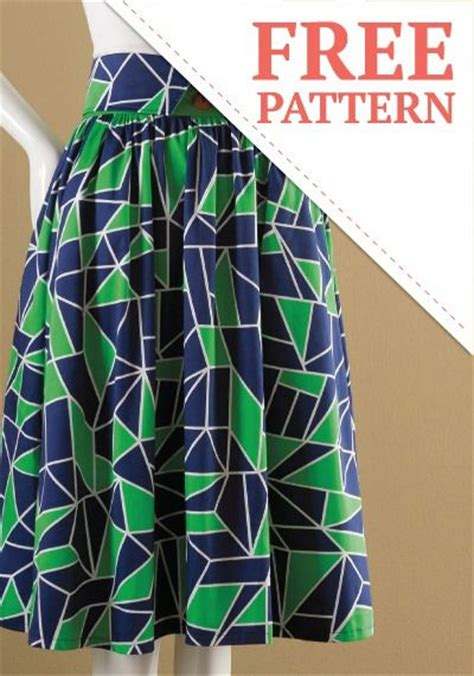 high waisted skirt summer fashions and free pattern on