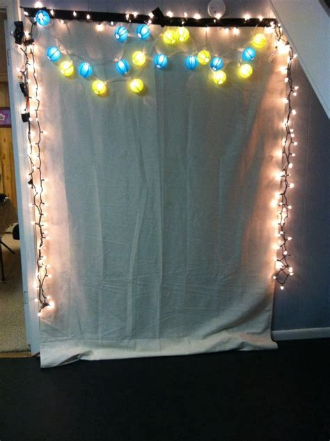 Handmade Photo Booth - my photo booth backdrop ideas