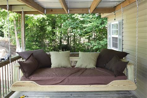 porch bed swing plans porch swing bed plans image mag