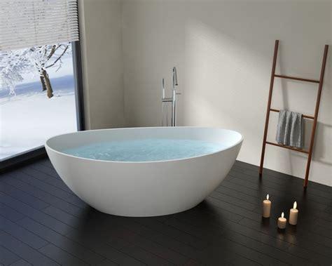 oval bathtubs badeloft upc cert modern oval stone resin
