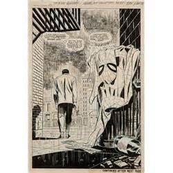 amazing spider man #50 original art splash page by john