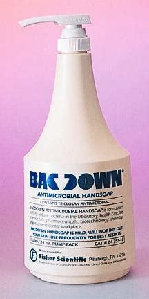 Blue Soap 17 Oz 500ml decon bacdown antimicrobial soap bottle 17 oz 500ml industrial