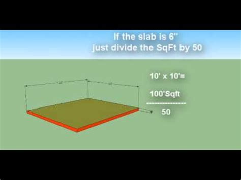 How Many Square In A Cubic Yard How To Estimate Concrete