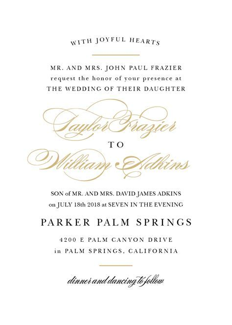 Wedding Invitation Dress Code Wording   Invitation