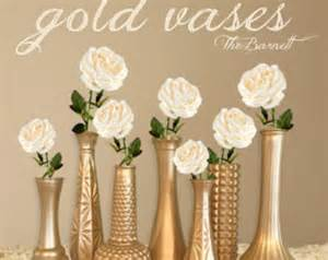 Decorating Vases For Centerpieces Items Similar To Metallic Gold Vases Painted Glass Vases