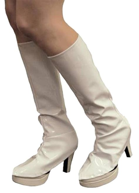 knee high gogo boot covers costume 60 70s shiny