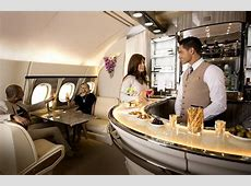 Check out the revamped Business Class bar on the Emirates A380 United Airlines 777 Interior