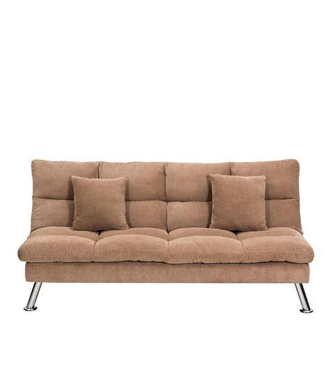 milan sofa bed royaloak milan sofa cum bed with brown upholstery buy
