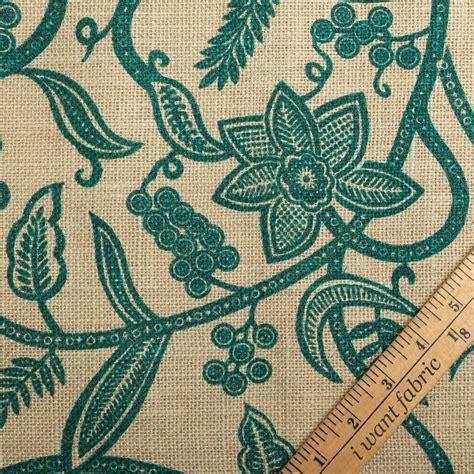 printed burlap upholstery fabric printed floral swirl woven natural jute burlap hessian
