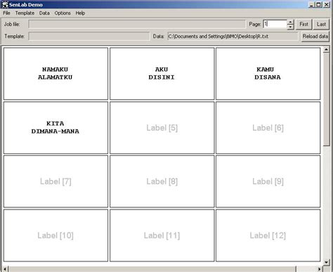 download format label nama undangan 103 mencetak nama undangan pada kertas label nanangr