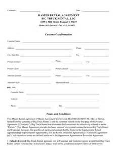 Truck Rental Agreement Template by Best Photos Of Truck Rental Agreement Form Template